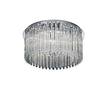 Ideal Lux - elegante cromado y vidrio 12 luminaria semi-empotrada IDL019468