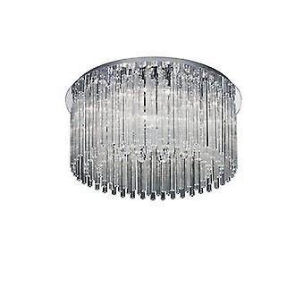 Ideal Lux - elegante cromo & vetro dodici semi-incasso plafoniera IDL019468