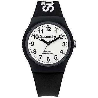 SUPERDRY Quartz analoog horloge Unisex siliconen polshorloge SYG164BW