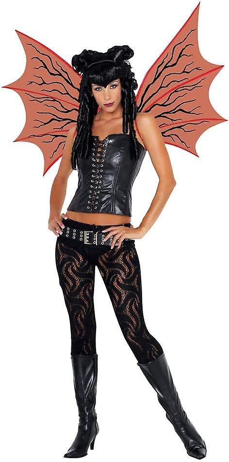 Demonette Wings Red W/Bk Veins