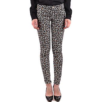 Michael Kors Ezbc063065 Women's Leopard Cotton Jeans