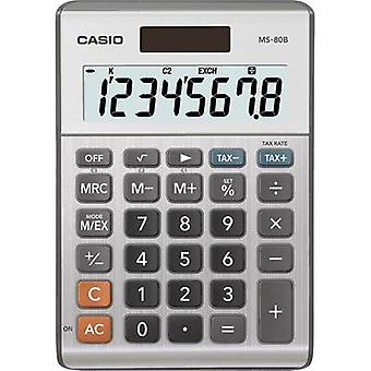 Casio MS-80B Desk calculator Silver-grey Display (digits): 8 solar-powered, battery-powered (W x H x D) 103 x 29 x 147 mm