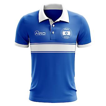 Israel Concept Stripe Polo Shirt (Blue) - Kids