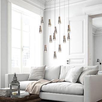 Moderne industrielle 13 vedhæng loftslampe hængende lys krom rund baldakin nye