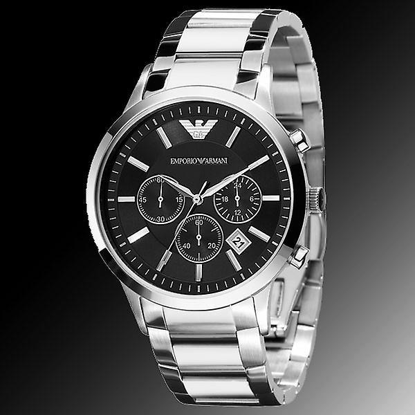 Emporio Armani Ar2434 Classic Chronograph Black Dial Watch