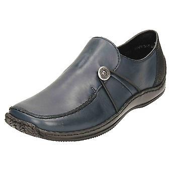 Rieker SLIP em sapatos de couro Flat loafer L1781-14