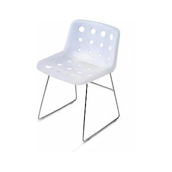 Loft Robin Day Skid White Plastic Polo Chair