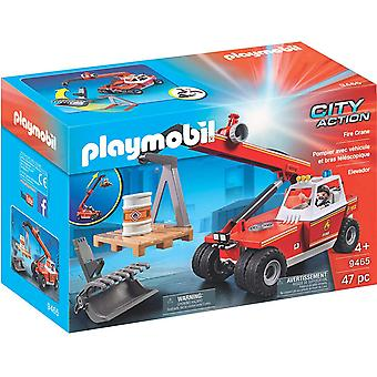 Playmobil 9465 City Action Feuerkran mit Palettengabelbefestigungen