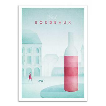 Kunst-poster-bezoek Bordeaux-Henry Rivers 50 x 70 cm