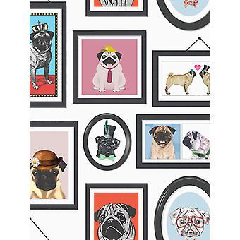 Um Pug ' s Life Pug quadros wallpaper Holden 11360