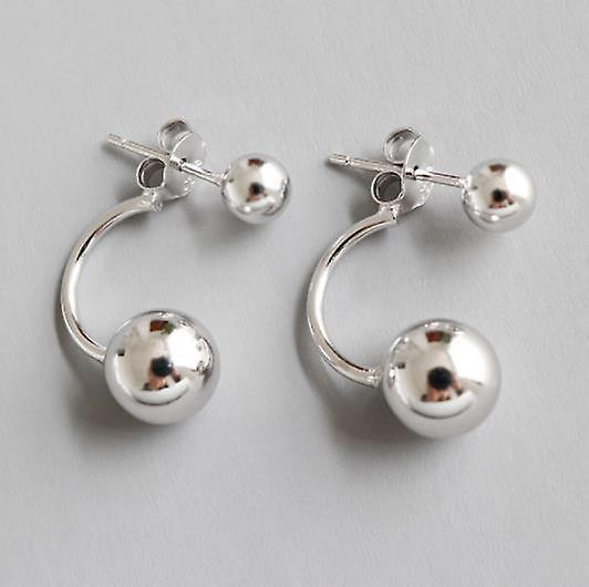925 Sterling Silver Love Ball Double Earrings