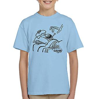 Grimmy Sick In Bed Kid's T-Shirt