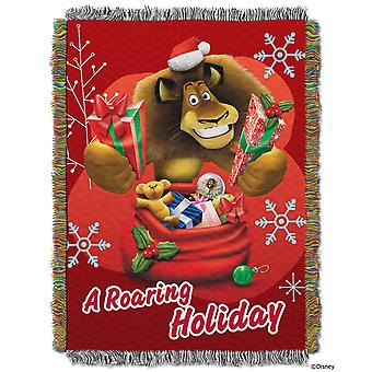 Tapestry Throws - Merry Madagascar - A Roaring Holiday (48x60
