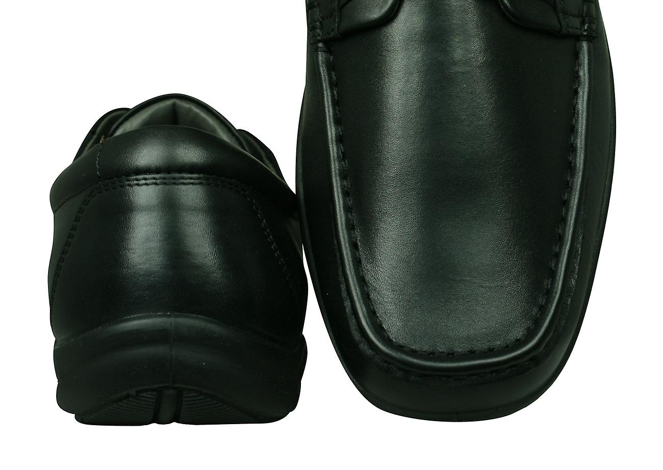 Sledgers Gus Mens Lace-up Leather Shoes - Black