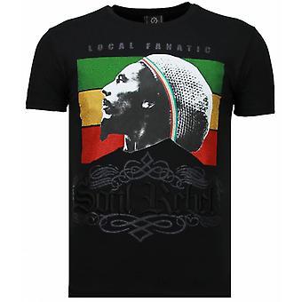 Soul Rebel Bob-Rhinestone T-shirt-noir