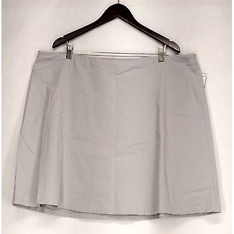 Alfani Plus Skirt Pull On A Line Style w/ Back Pockets Gray