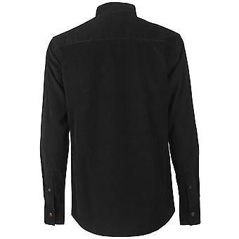 Pierre Cardin heren corduroy shirt casual top knop Regular