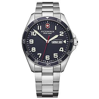 Victorinox field watch quartz analog man watch with stainless steel bracelet V241851