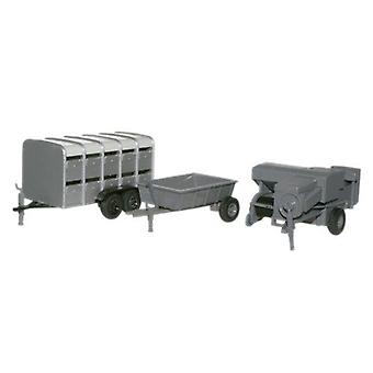 Oxford Diecast Presă de balotat, Animale Trailer & Farm Trailer