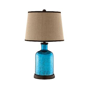 Blue glass table lamp stein world