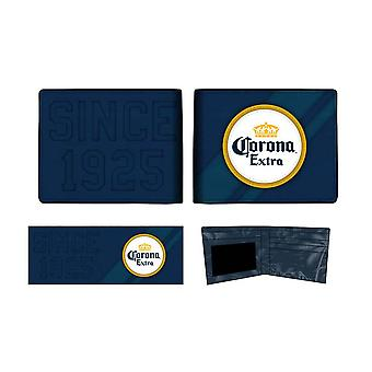 Corona Extra Logo Bifold Navy Blue Wallet