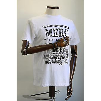 Merc London Catford White Road Trip Print T-Shirt