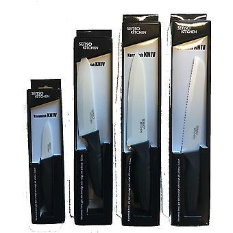Couteaux en céramique Senso Kitchen Knivset Noir/Blanc