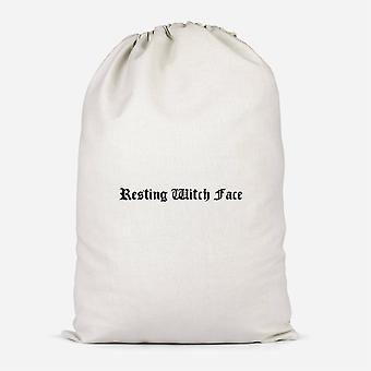 Resting Witch Face Cotton Storage Bag