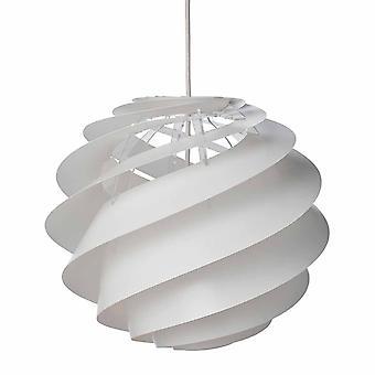 Le Klint schorsing lamp swirl 3 kleine witte 32 cm doorsnede.