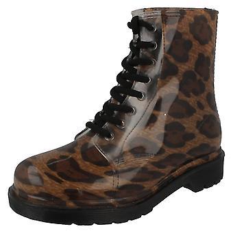 Kære plet på Chunky hæl gennemsigtig støvler