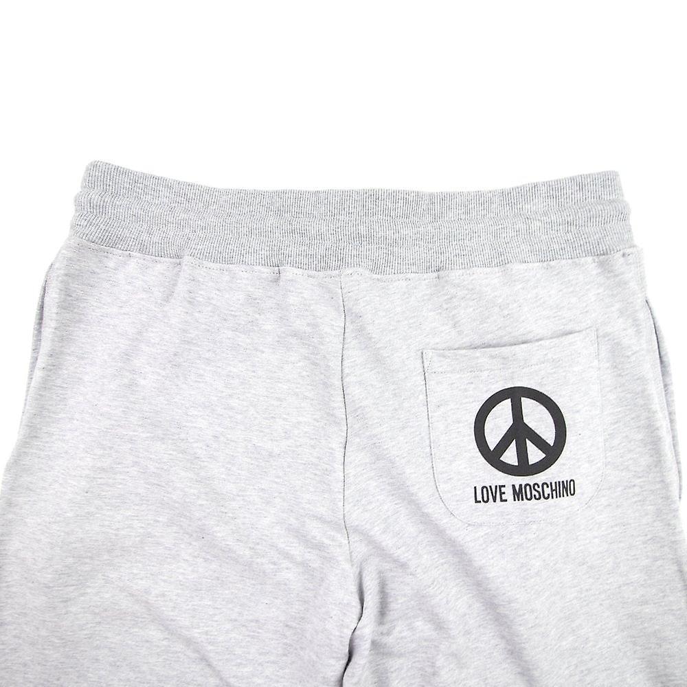Love Moschino Peace Logo Back Pocket Pants Grey 0bSNJy