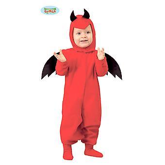 Traje do diabo de bebê para crianças carnaval Halloween Belzebu