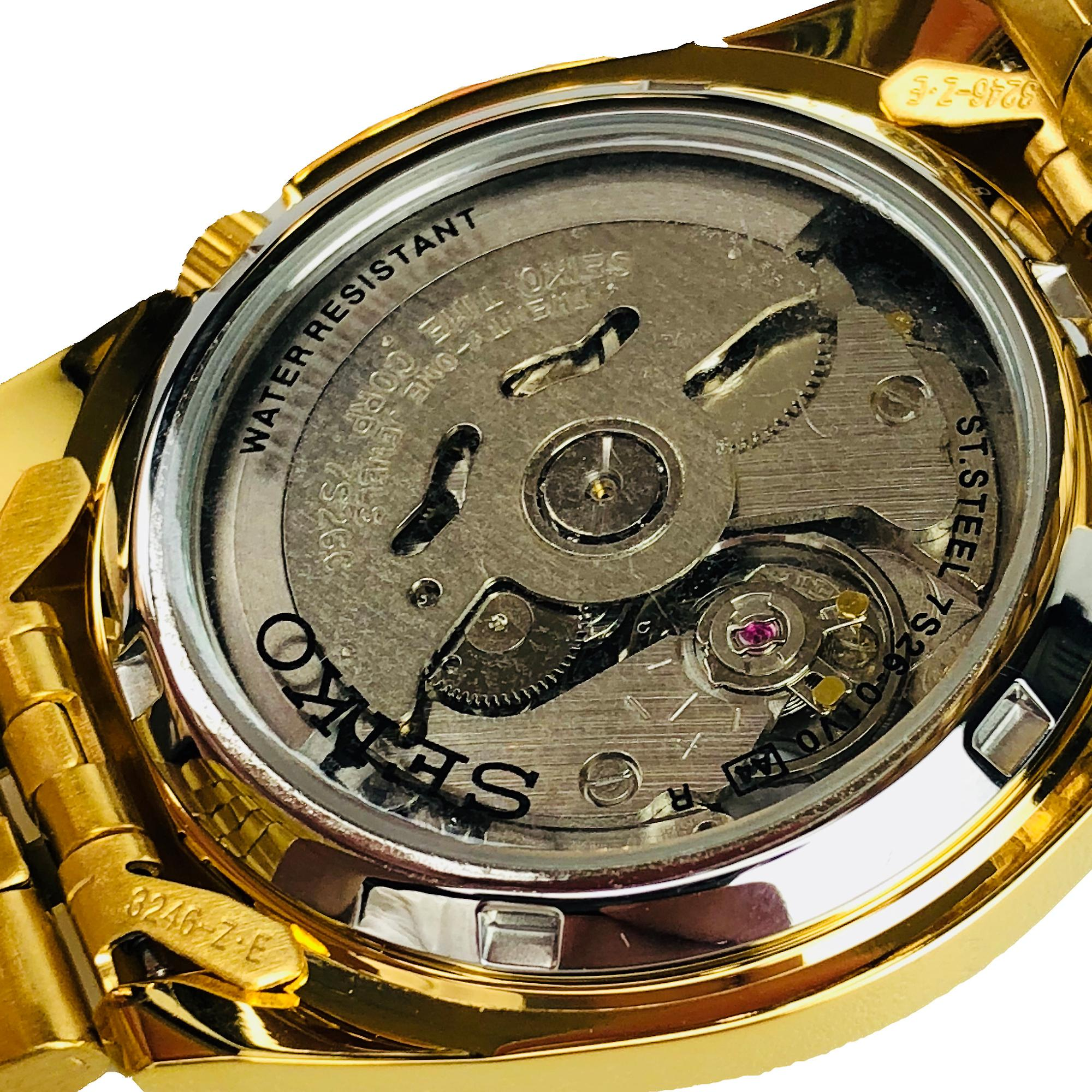 Seiko 5 Automatic Gold Stainless Steel Men's Watch SNK366K1