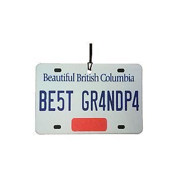 BRITISH COLUMBIA - Best Grandpa License Plate Car Air Freshener