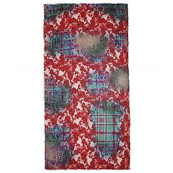 Ahujasons tartan Poppy print sjaal