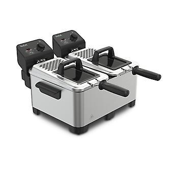 Tefal FR3610 Double PRO Fryer 2x 3, 5L 3600W Acier noir/inoxydable