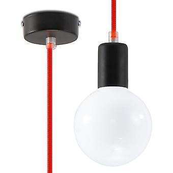 Sollux EDISON 1 Light Ceiling Pendant Red SL.0155