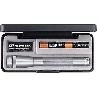 MAGLITE Mini, LED Flashlight, Adjustable Beam, 2 AA Batteries, Gray #SP22097