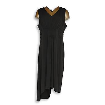 Kelly by Clinton Kelly Petite Dress L V-Neck Empire Waist Black A278473