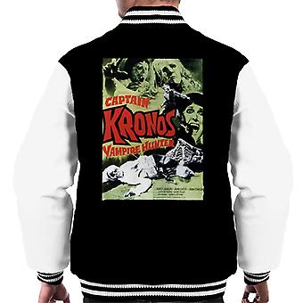 Hammer Horror Films Captain Kronos Classic Poster Men's Varsity Jacket