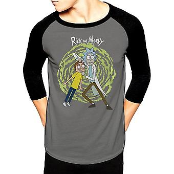 Rick And Morty Adults Unisex Adults Spiral Baseball Shirt