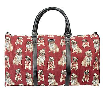 PUG Big Travel holdall by signare tapestry/bhold-pug