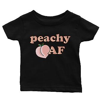 365 Printing Peachy AF Baby Graphic Shirt Gift Black Infant Tee Baby Shower Gift