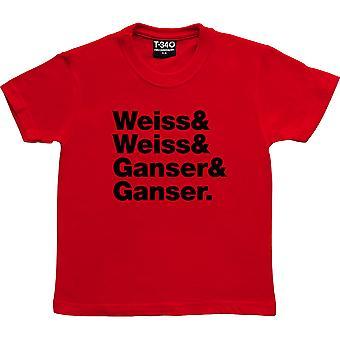 La Shangri-Las Line-Up Red Kids' T-Shirt