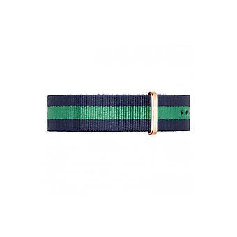 Green NATO band NATO strap fabric band 20mm suits daniel wellington