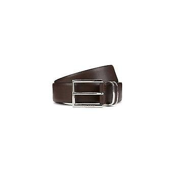 الحزام من الجلد البنى داكن فربين هوجو بوس زينة هوغو بوس للرجال