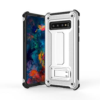 Para Samsung Galaxy S10 Case, Silver UltraThin Shockproof PC+ TPU Armour Back Cover