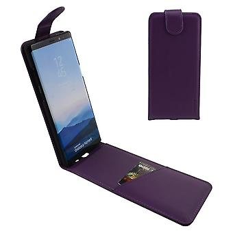 Voor Samsung Galaxy Note 8 Case, iCoverLover Verticale Flip Echt Leer, Paars