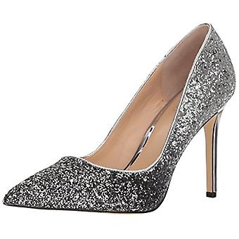 Jewel Badgley Mischka Women's Malta Shoe, black/silver, M080 M US