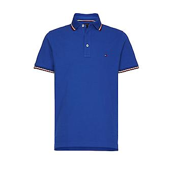Tommy Hilfiger Tipped Slim Fit Polo Shirt Phthalo Blue